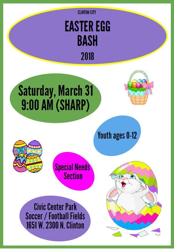 Easter Egg Bash Flyer 2018