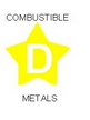 Illustration for classification D - Combustible Metals