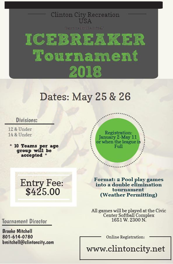 Icebreaker Tournament Flyer 2018