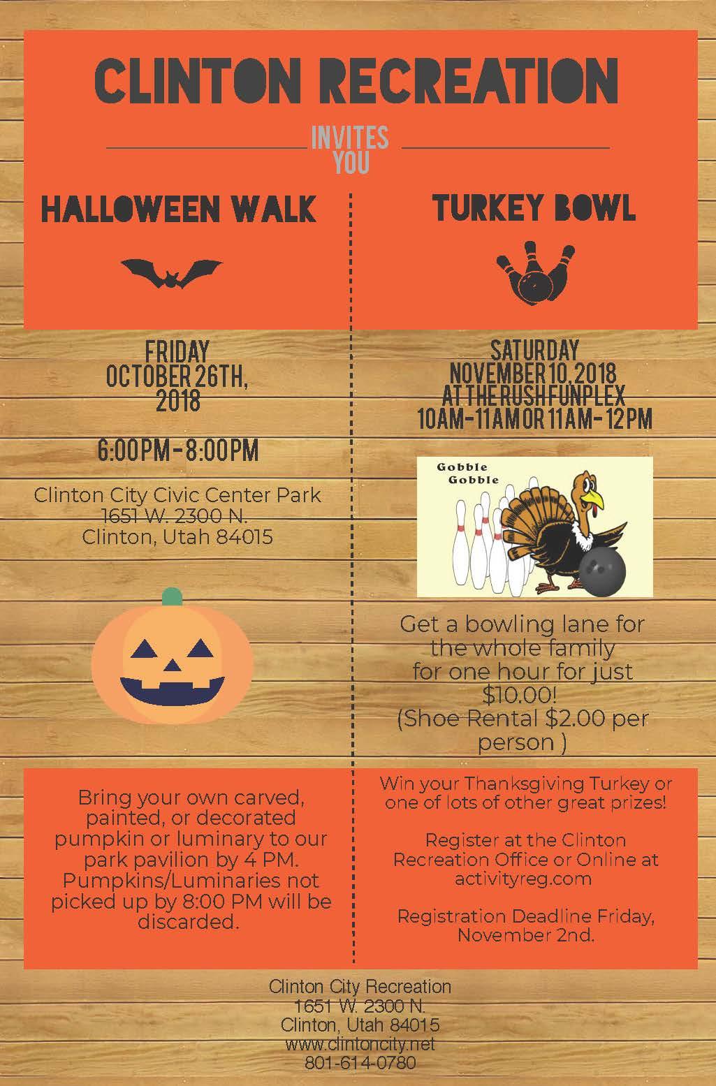 oct 26 2018 clinton recreation halloween walk