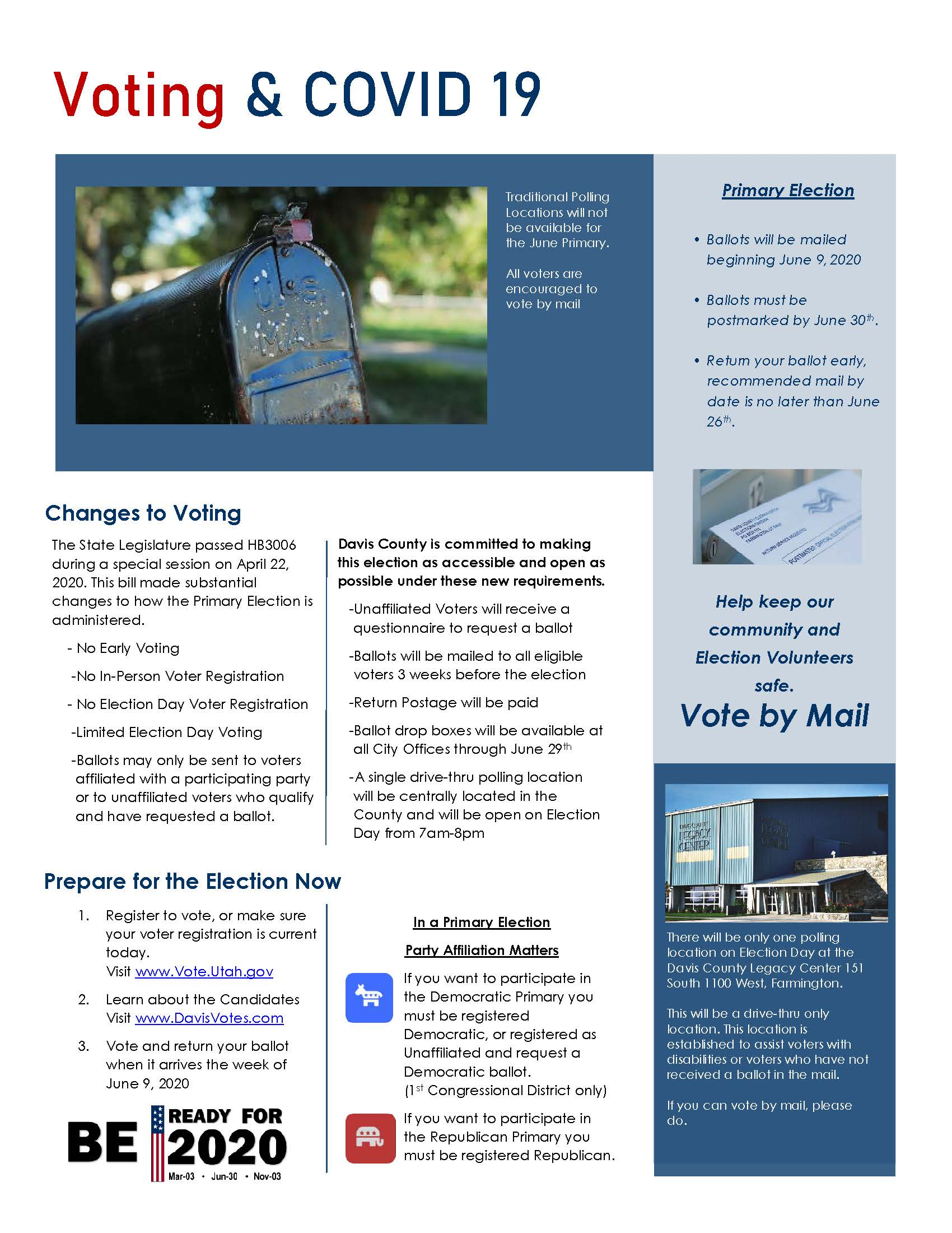Primary 2020 Election Newsletter