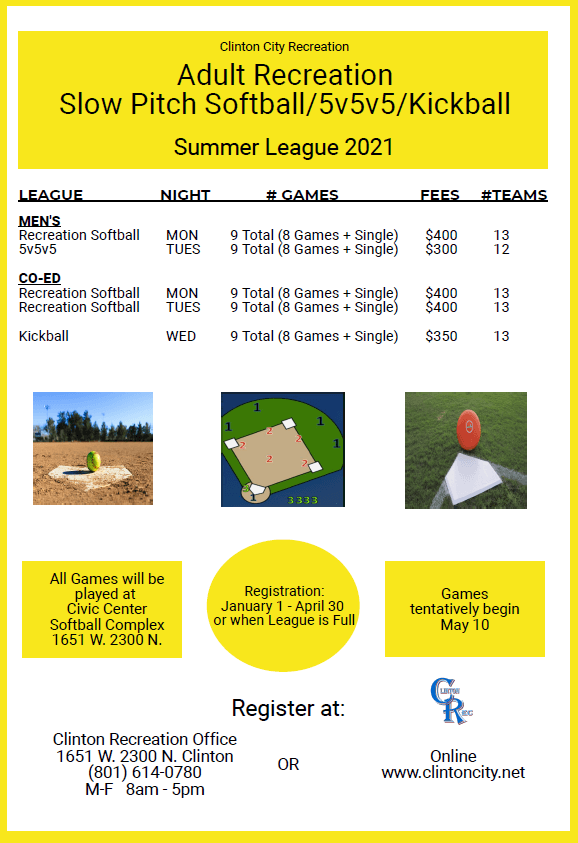 2021 Softball Summer League